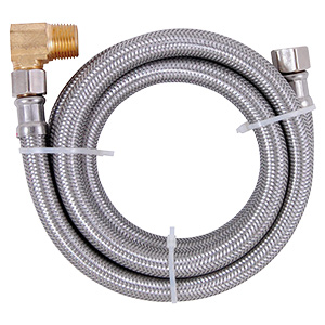"48"" Stainless Steel Dishwasher Supply Line with Elbow"