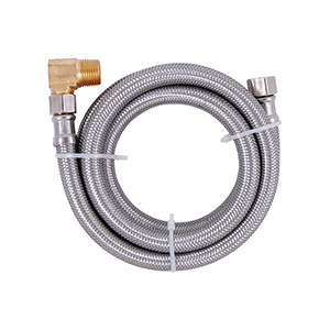 "60"" Stainless Steel Dishwasher Supply Line with Elbow"