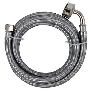 "60"" Stainless Dishwasher Supply Line with Female Hose Thread"
