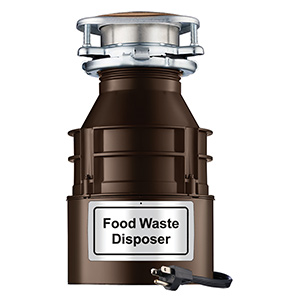 FWD 1 1/3 HP Disposer with Power Cord