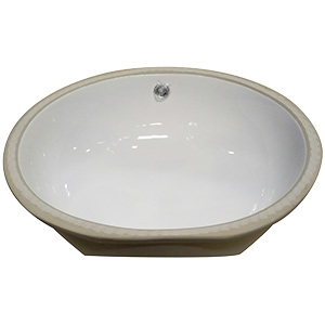 Porcelain Oval Lavatory Sink White