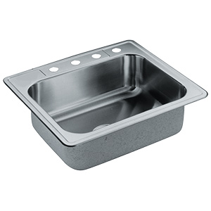 Elkay Stainless Steel Kitchen Sink Single Bowl 4-Hole
