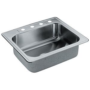 Elkay Stainless Steel Kitchen Sink Single Bowl 4-Hole
