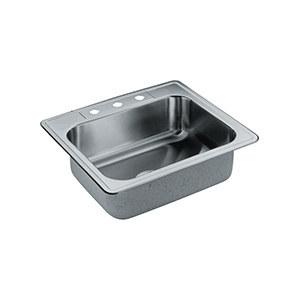 Elkay Stainless Steel Kitchen Sink Single Bowl 3-Hole