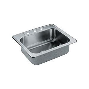 Elkay Stainless Steel Kitchen Sink Single Bowl 3-Hole