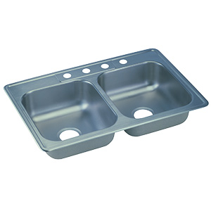 Elkay Stainless Steel Kitchen Sink Double Bowl 4-Hole