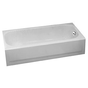 Bootz 5 Ft Steel Bathtub Right Hand Drain White