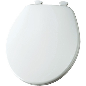Church Wood Premium Quick-Change Round Toilet Seat White