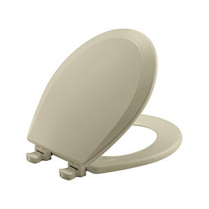 Church Wood Premium Quick-Change Round Toilet Seat Bone