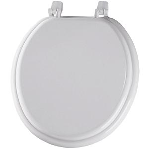 Church Wood Standard-Grade Round Toilet Seat White