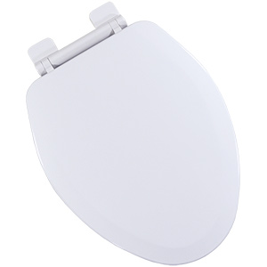Wood Elongated Slow-Close Toilet Seat White