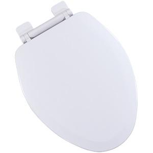 Wood Elongated Slow-Close Toilet Seat White