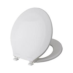 Church Plastic Standard-Grade Round Toilet Seat White
