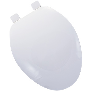 Plastic Elongated Toilet Seat White