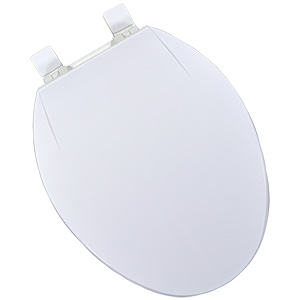 Plastic Elongated Deluxe-Grade Toilet Seat White