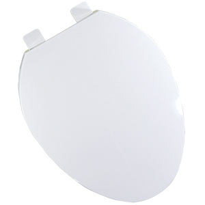 Plastic Elongated QuicKlean Hinged Toilet Seat White