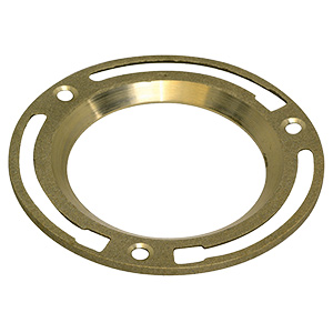 "4"" Brass Toilet Bowl Floor Flange"