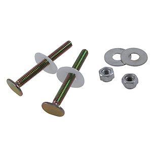 """Brass Plated 1/4"""" x 2-1/4"""" Bowl-To-Floor Bolts"""