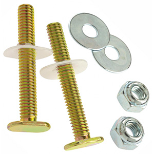 """Solid Brass 1/4"""" x 2-1/4"""" Bowl-To-Floor Bolts"""