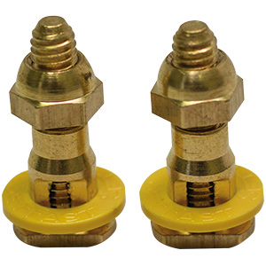 Self-Adjusting Solid-Brass Closet Bolts