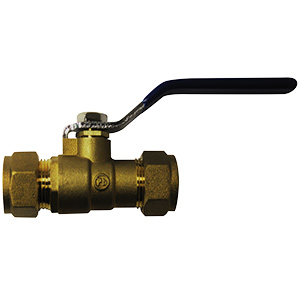 "Standard Port Ball Valve 1/2"" Compression"