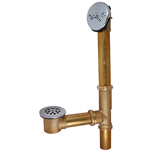 Brass Trip Lever Waste & Overflow Chrome Trim