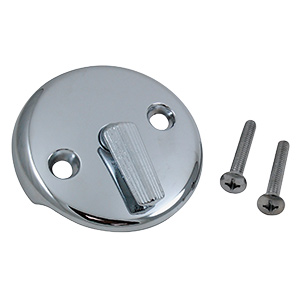 Overflow Plate with Trip Lever Chrome