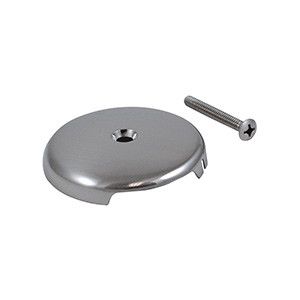 Overflow Plate with One Hole Brushed Nickel