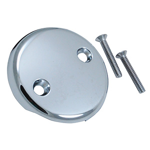 Overflow Plate with Two Holes Chrome