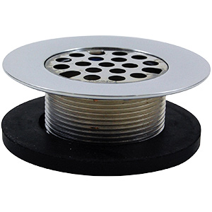 "Tub Shoe with Strainer 1-5/8"" Fine Thread"