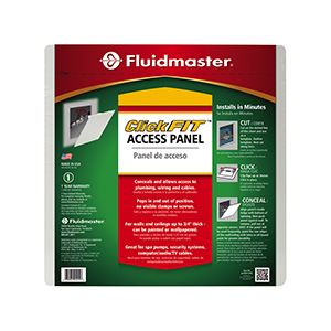 "Fluidmaster 14"" X 14"" White Plastic Access Panel"