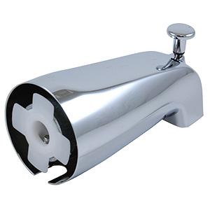 Chrome Slip-On Front-Lift Diverter Tub Spout