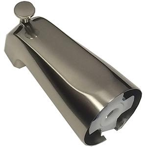 Brushed Nickel Slide Connector Diverter Tub Spout