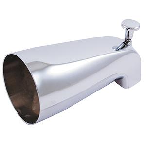 """Chrome Font-Lift Diverter Tub Spout 1/2"""" FIP"""