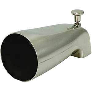 "Brushed Nickel Diverter Tub Spout 1/2"" FIP"
