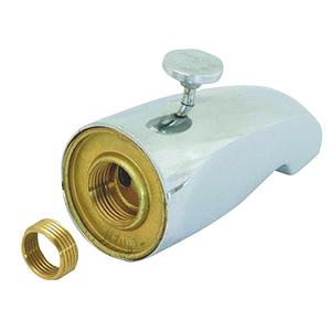 Chrome Cast Brass Rear-Lift Tub Diverter Spout