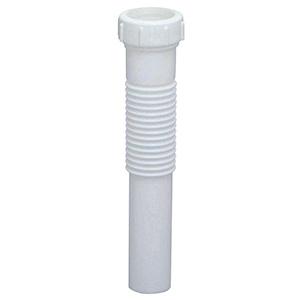 "Flexible PVC Slip Joint Extension Tube 1-1/2"" x 12"""