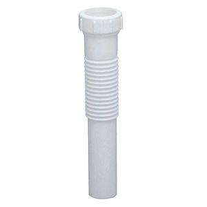 "Flexible PVC Slip Joint Extension Tube 1-1/4"" x 8"""