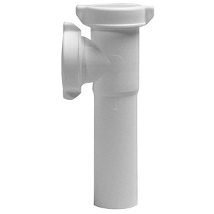 """PVC Slip Joint End Outlet Tee with Baffle 1-1/2"""""""