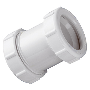 PVC Slip Joint Straight Coupling 1-1/2""