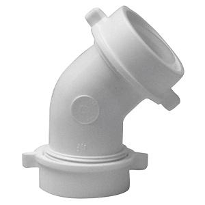 "PVC Slip Joint 45° Elbow 1-1/2"""