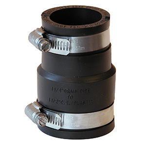 """Fernco Flexible Pipe Connector 1-1/2"""" x 1-1/4"""""""