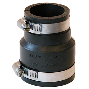 """Fernco Flexible Pipe Connector 2"""" x 1-1/2"""""""
