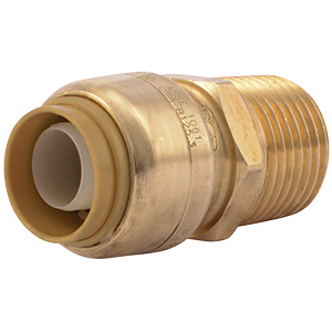 "SharkBite Male Connector 1/2"" Push-Fit x 1/2"" MIP"