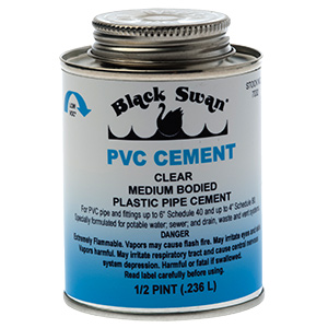 Clear PVC Pipe Cement 8 oz