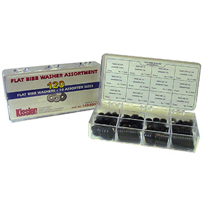 Flat Rubber Washer Assortment Kit 120 Piece