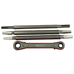 4-Piece Ratchet Seat Wrench Set