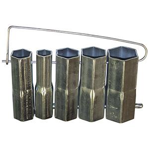 Plumber's 5-Piece Steel Socket Set