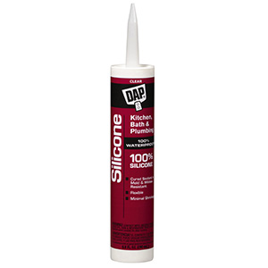 Dap Kitchen & Bath Silicone Caulk Clear 10.1 oz