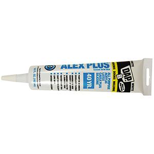 Dap ALEX PLUS Acrylic Latex Caulk Plus Silicone White 5.5 oz